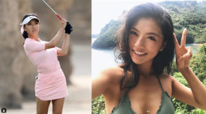 """ฮอตสุด! เปิดภาพ/ประวัติ """"เหอ มู่นี"""" นักกอล์ฟสาวจีนวัย 18"""